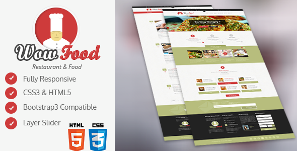 ThemeForest WOW Food HTML Template 10122769