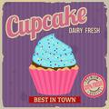 Cupcake retro poster - PhotoDune Item for Sale