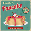 Pancake retro poster - PhotoDune Item for Sale
