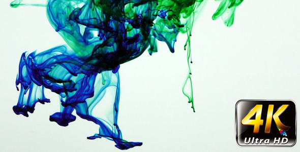 Colorful Paint Ink Drops Splash in Underwater 40