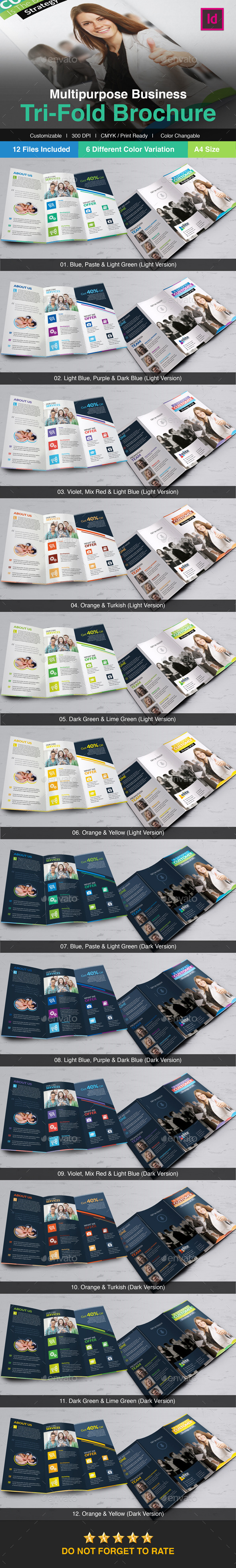 GraphicRiver Elite Multipurpose Business Tri-Fold Brochure 10186676