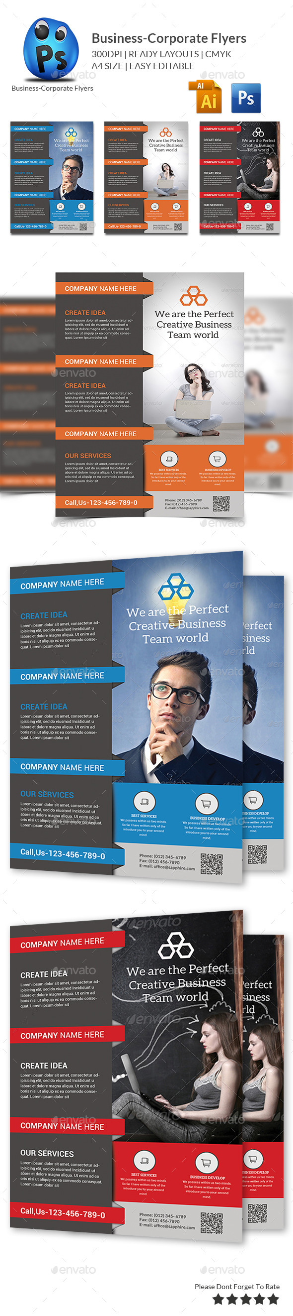 GraphicRiver Corporate Business Flyer Template 10187120