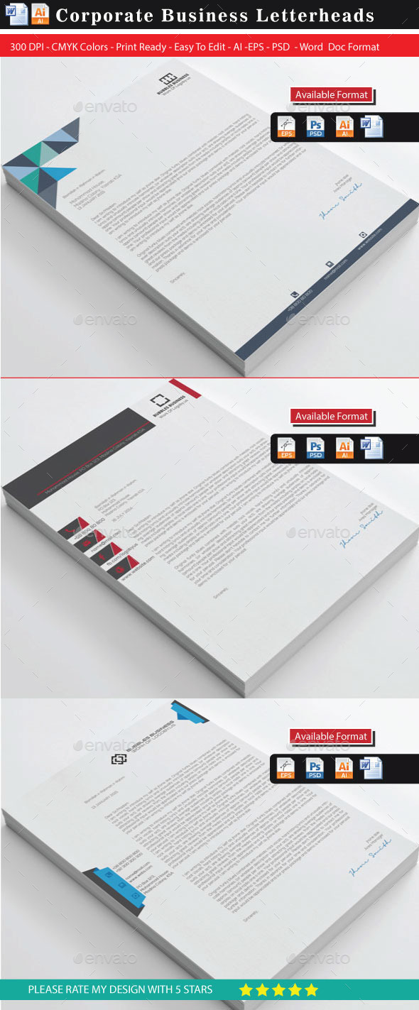 GraphicRiver Creative & Modern Letterhead Bundle 10187202