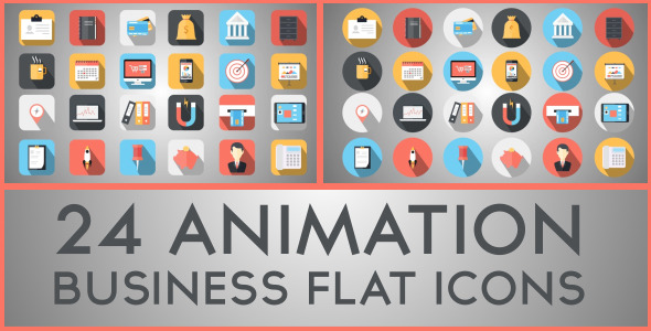 Bussiness Flat Icons (Infographics)
