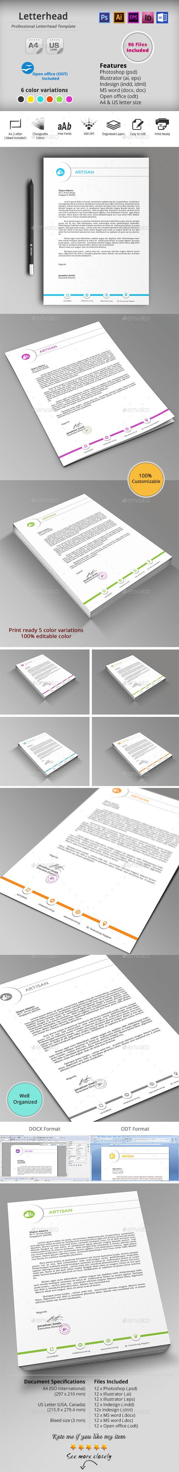 GraphicRiver Letterhead 10187537