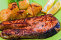 Grilled Salmon Fish meat - PhotoDune Item for Sale