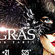 Flyer Night of Masks Mardigras Party - GraphicRiver Item for Sale