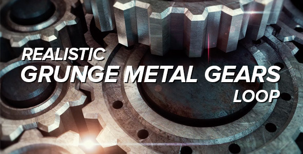Rotating Grunge Metal Gears