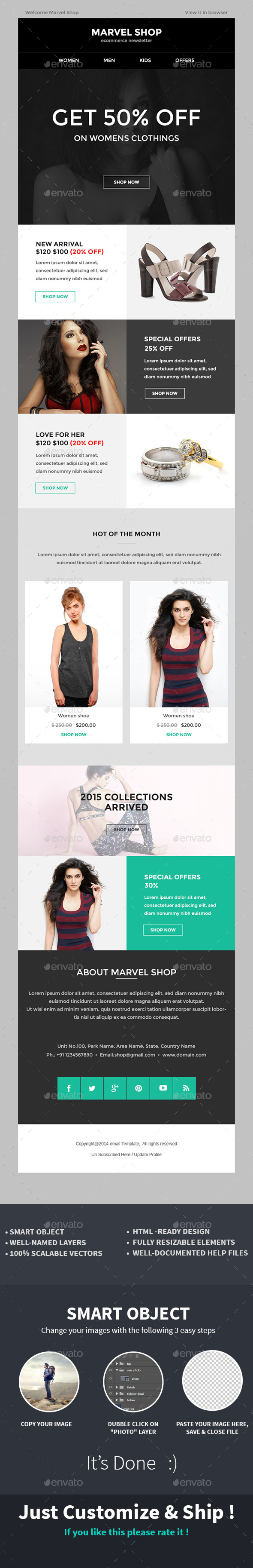 GraphicRiver E-commerce Special Offer Newsletter PSD Template 10189456