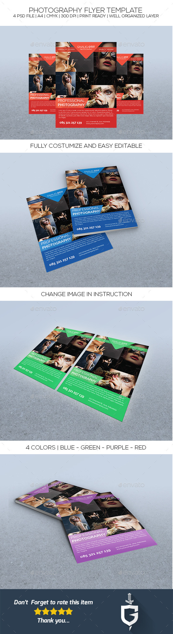GraphicRiver Photography Flyer Template 10189600