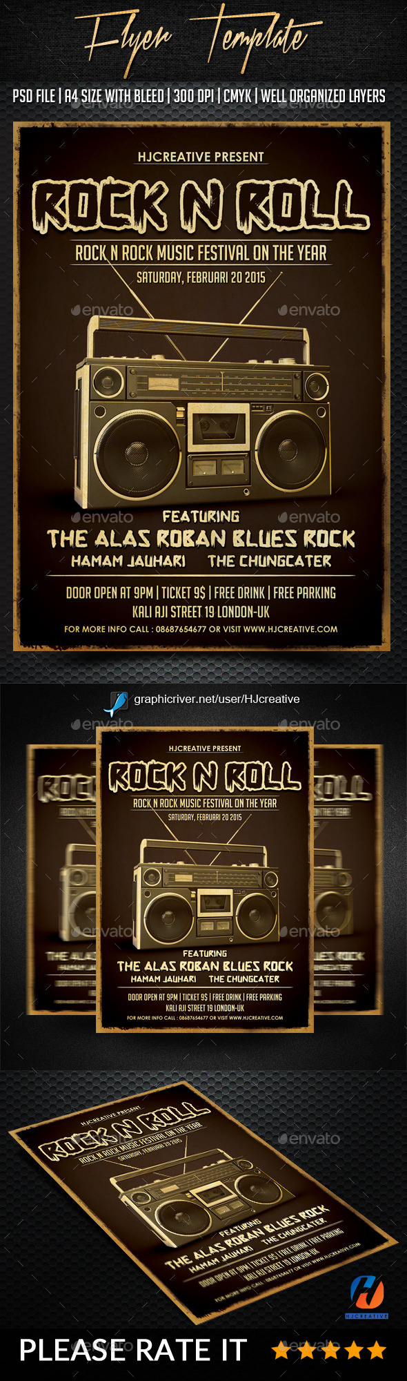 GraphicRiver Rock n Roll Poster Flyer Vol 1 10189793