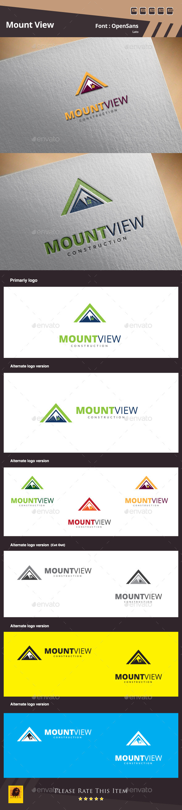Mount View Logo Template