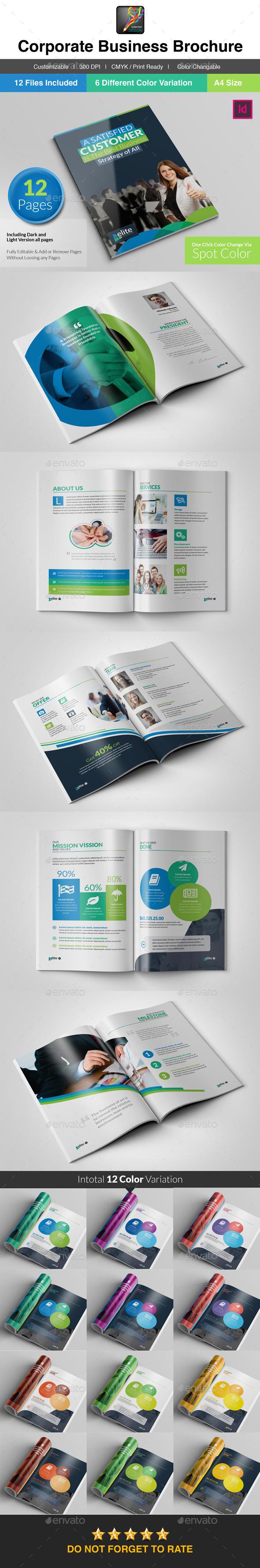 GraphicRiver Elite Bi-Fold Cleane Business Brochure 10190391