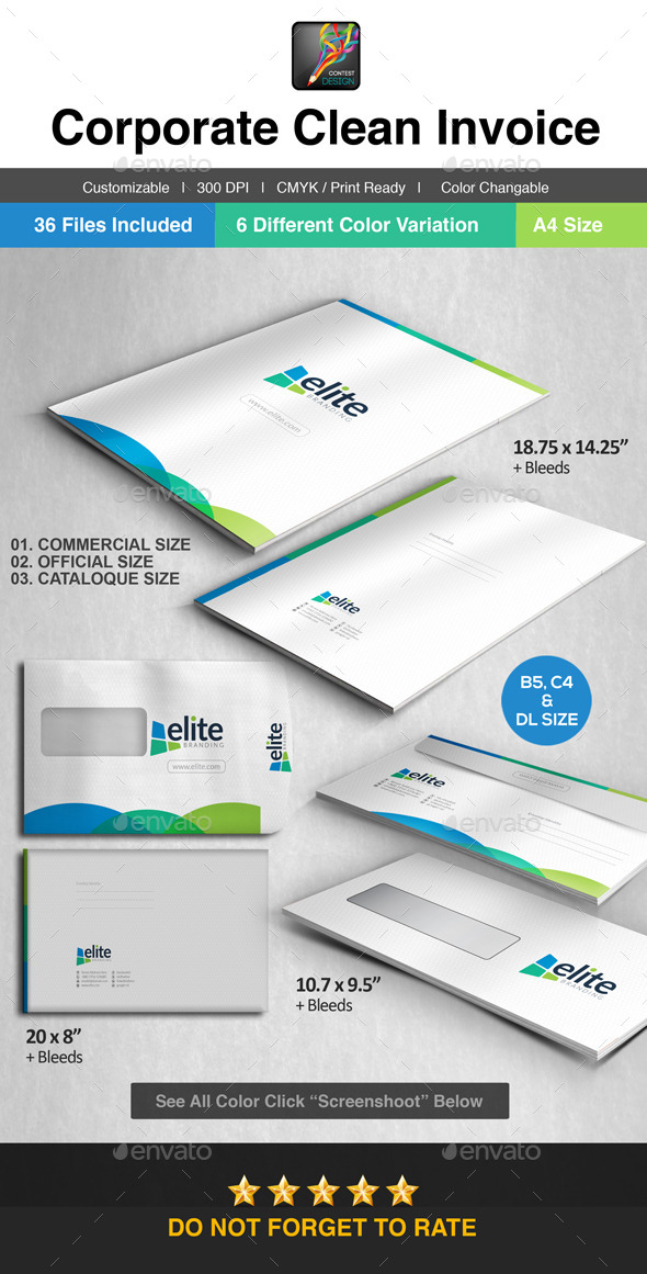 GraphicRiver Elite Official Envelop Package 10190596