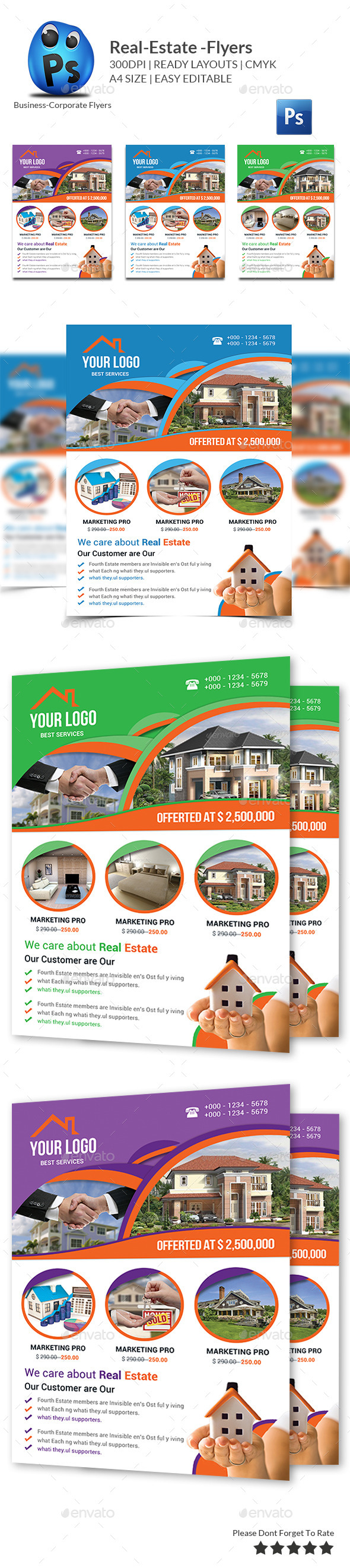 GraphicRiver Real Estate Flyer Template 10190609