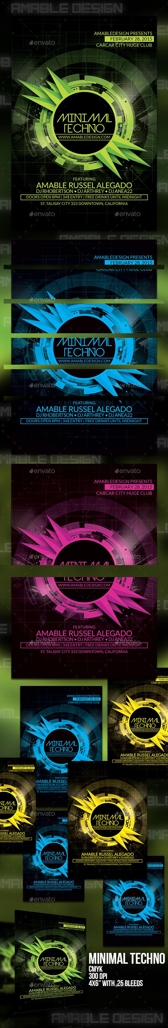 GraphicRiver Minimal Techno Flyer 10190782