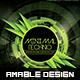 Minimal Techno Flyer - GraphicRiver Item for Sale