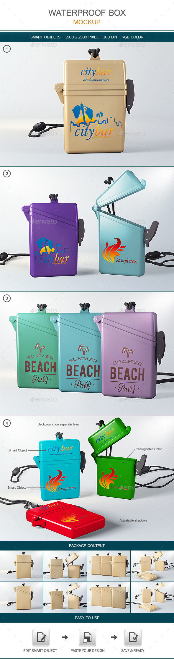 GraphicRiver Waterproof Box Mock-up 10190786