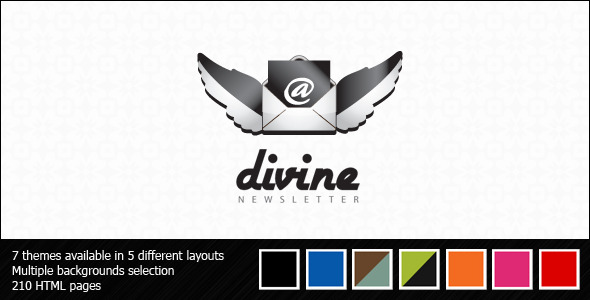 ThemeForest Divine Newsletter Email Templates 128140