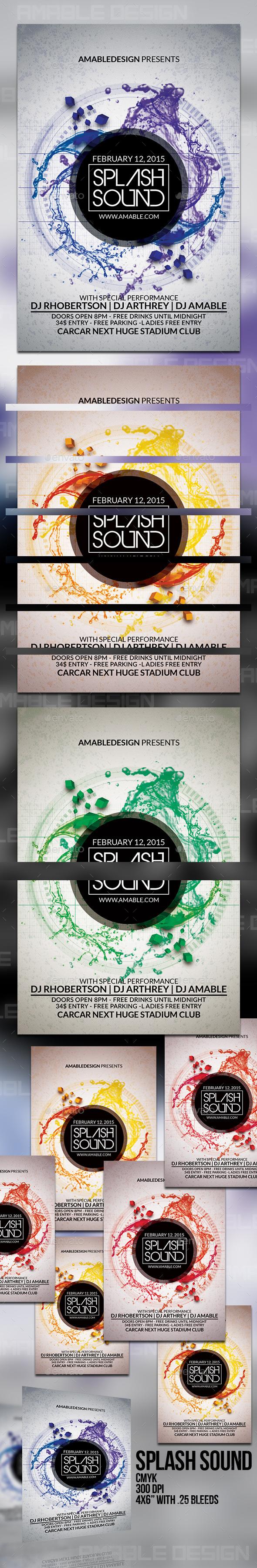 GraphicRiver Splash Sound Flyer 10190814