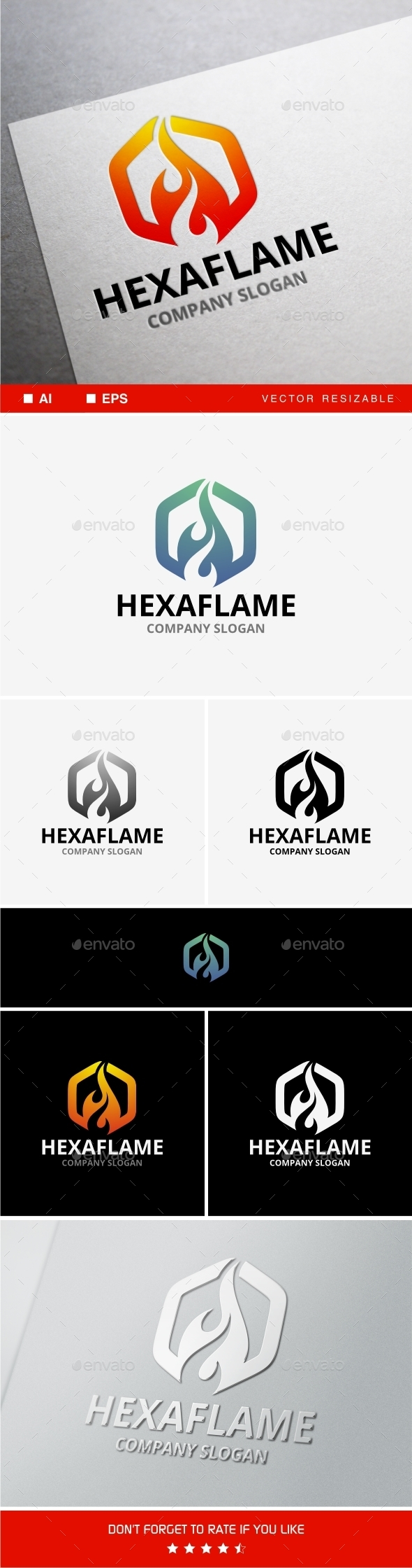 GraphicRiver Hexaflame 10190998