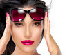 Beautiful Model Holding Fashion Sunglasses on Forehead - PhotoDune Item for Sale