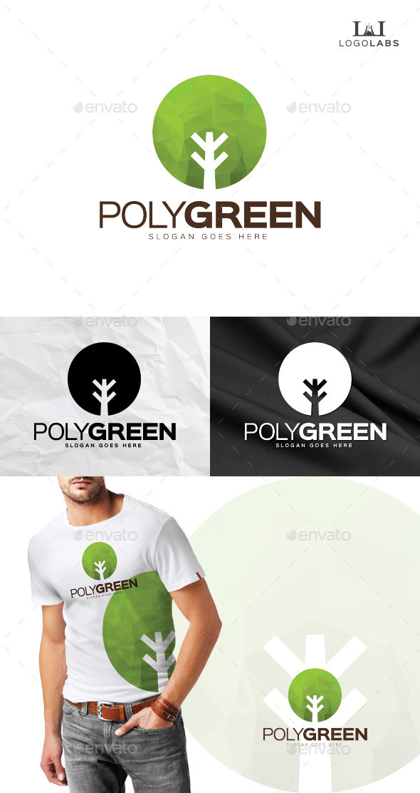 GraphicRiver Poly Green Logo 10191093