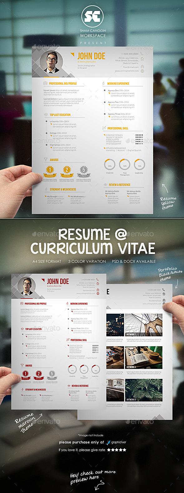 GraphicRiver Modern Resume CV 10191124