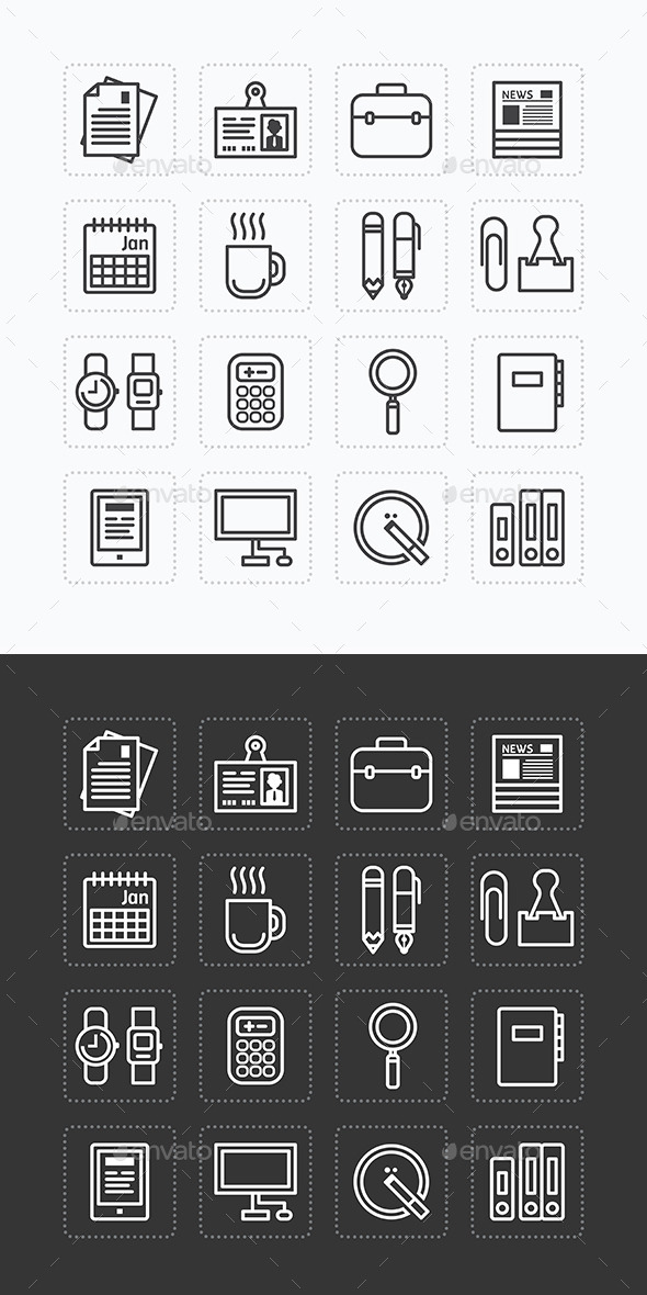 GraphicRiver Business Icons Set Modern Flat Icons 10191206