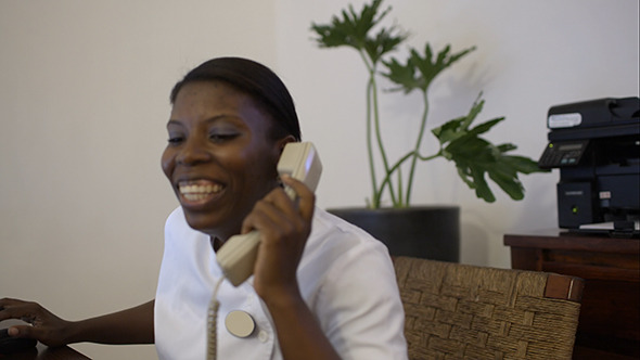 Woman Receptionist Working At Beauty Spa