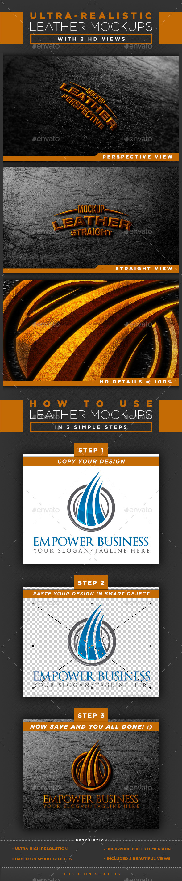 GraphicRiver HD Leather Mockups 10191291