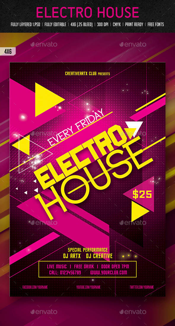 GraphicRiver Electro House 10191337