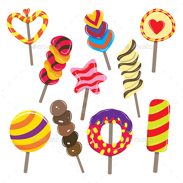 GraphicRiver Candy Sticks 10191340