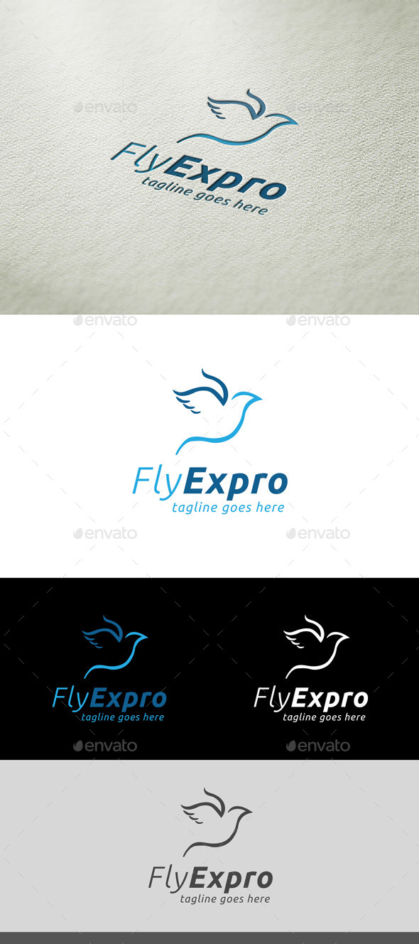 GraphicRiver FlyExpro Logo Template 10191397