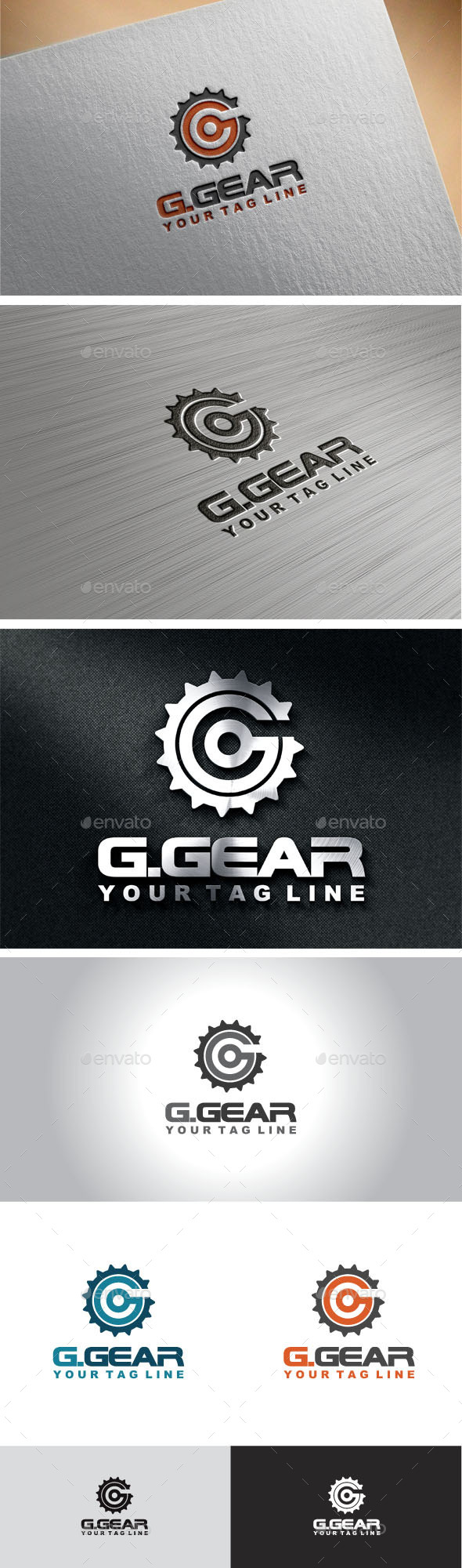 GraphicRiver Gear Letter G Logo 10191400