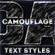 Camouflage Layer Styles - GraphicRiver Item for Sale