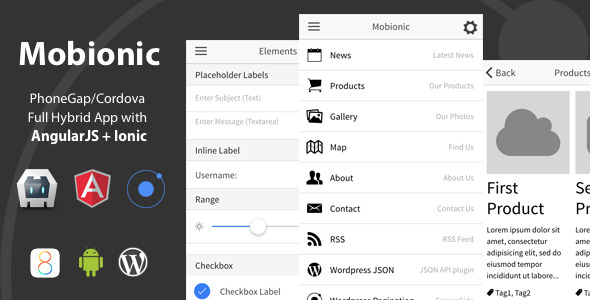 CodeCanyon Mobionic PhoneGap Cordova Full Hybrid App 10191423