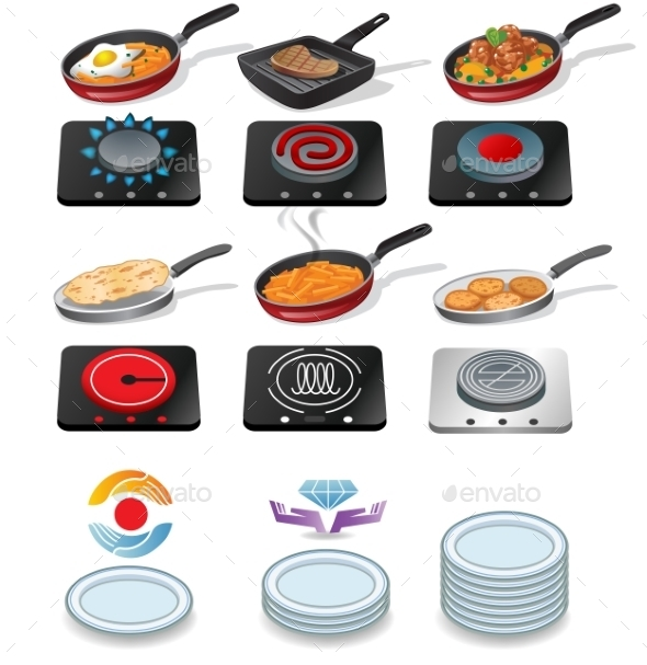 GraphicRiver Cooking Icons Set 10191809