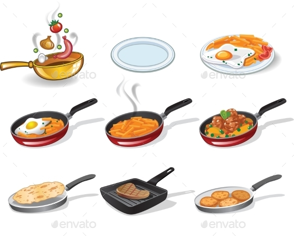 GraphicRiver Cooking Icons Set 10191810
