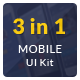 Mobile UI Kit 3 in 1  - GraphicRiver Item for Sale