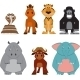 Cute Colorful Exotic Animals Collection - GraphicRiver Item for Sale