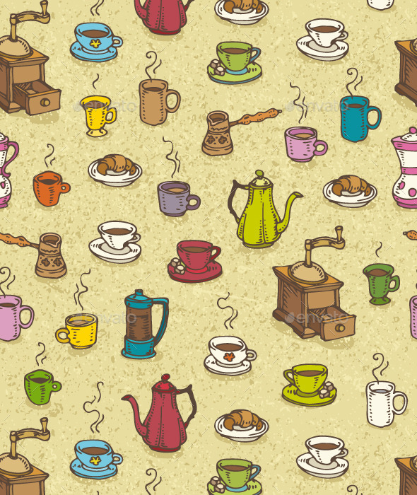 GraphicRiver Coffee Pattern 10192364