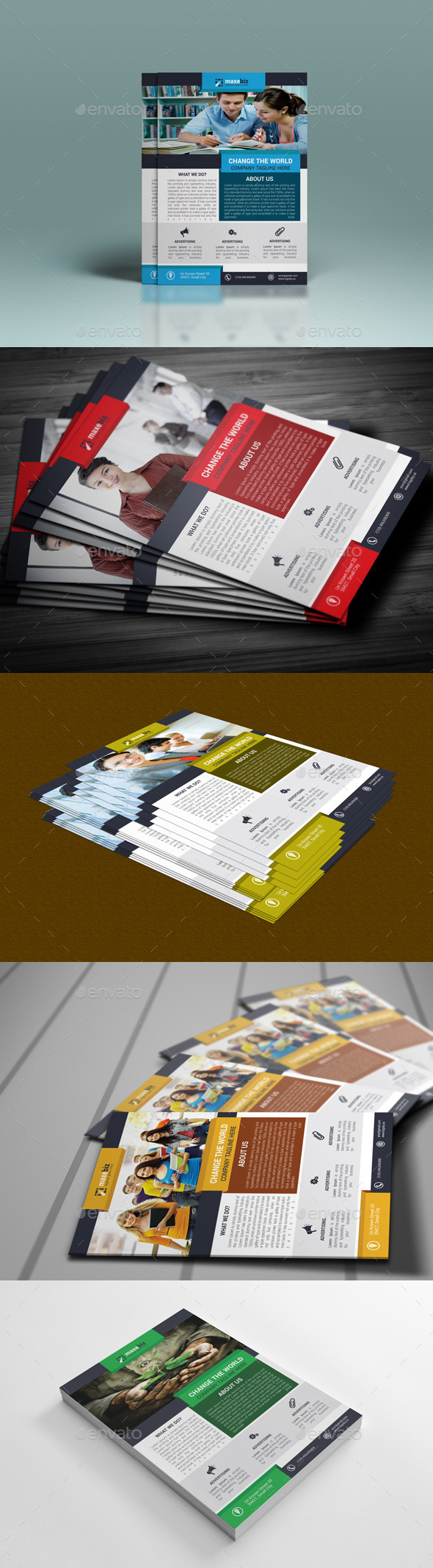 GraphicRiver Corporate Flyer Template 10192395