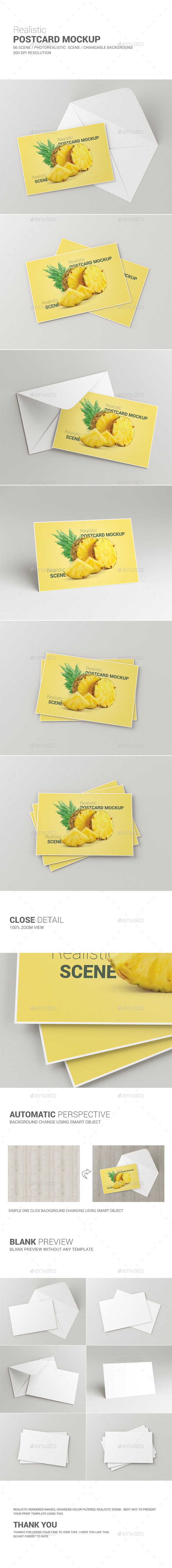 GraphicRiver Postcard Invitation Card Mockup 10192525