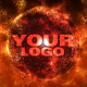 Fire sand Orb Logo Holder - (HD LOOP) - VideoHive Item for Sale
