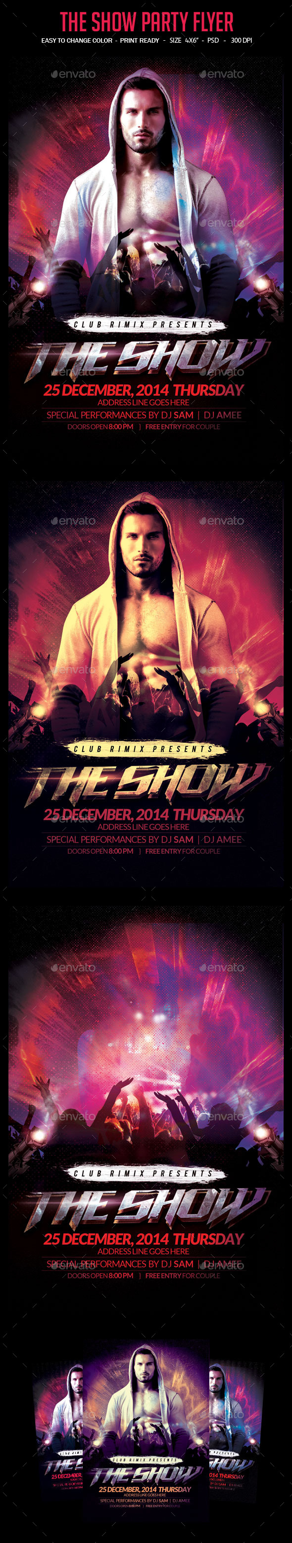 GraphicRiver The Show Party Flyer 10192668