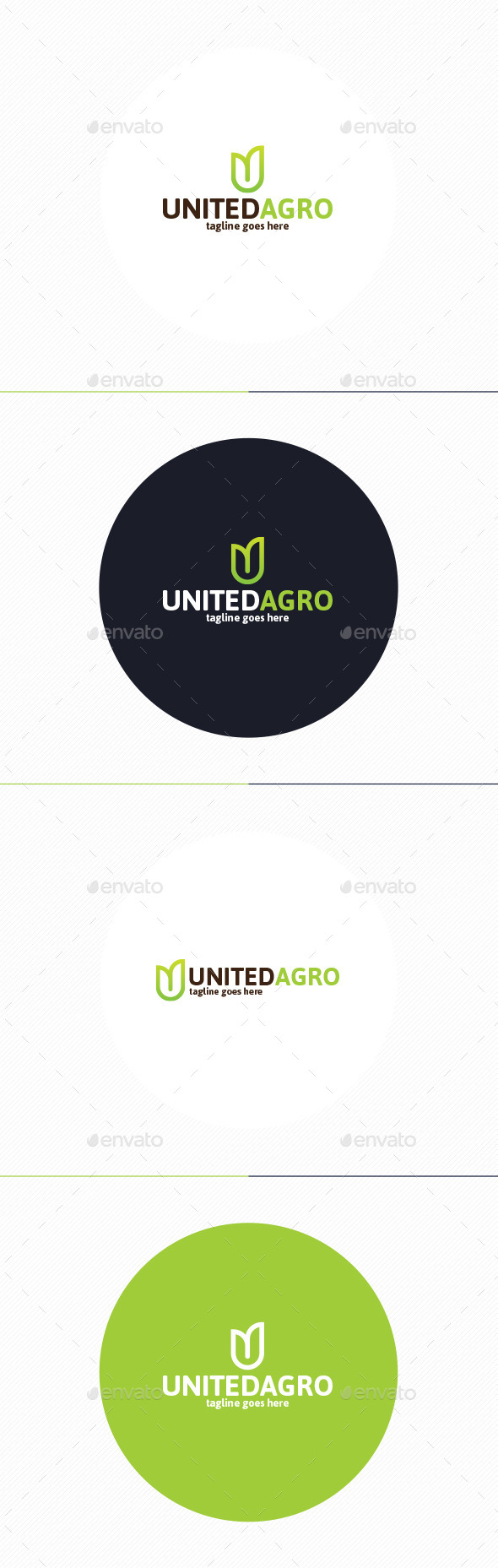 GraphicRiver United Agro Logo Letter U 10192703