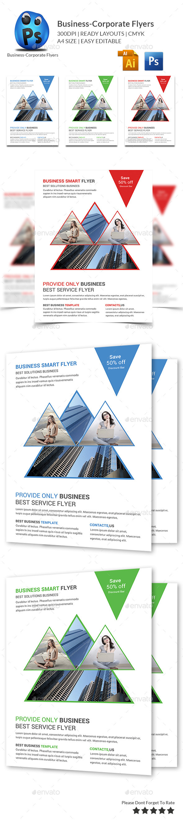 GraphicRiver Corporate Business Flyer Template 10192707