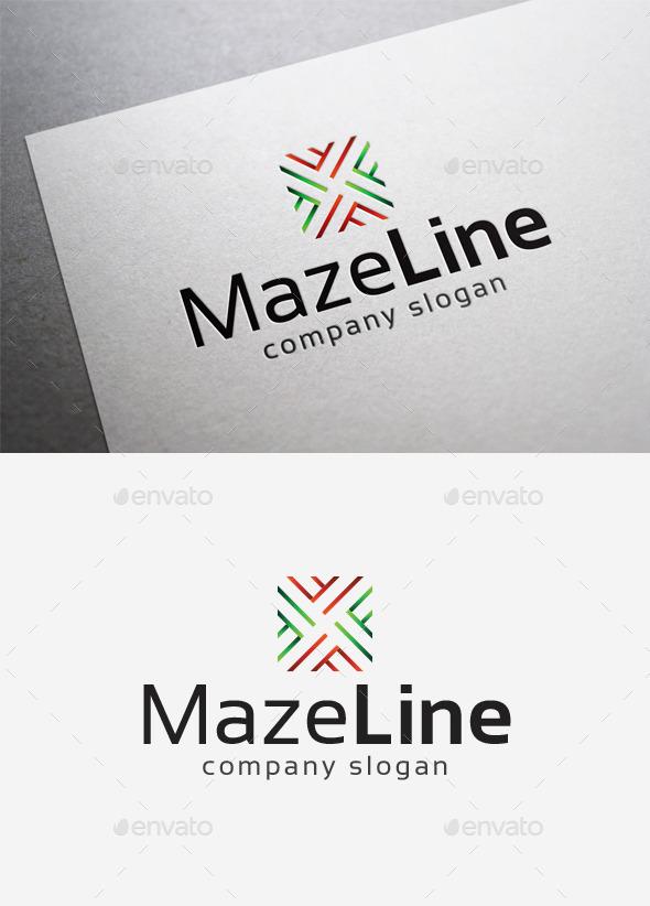 GraphicRiver Maze Line Logo 10192830