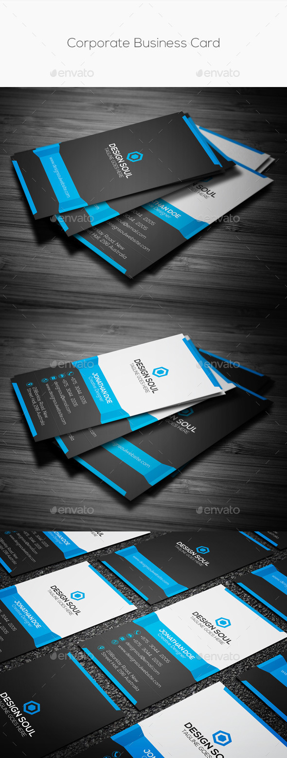 GraphicRiver Clean Vertical Corporate Business Card 10192915